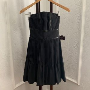 Fendi Pleated Strapless Black Dress